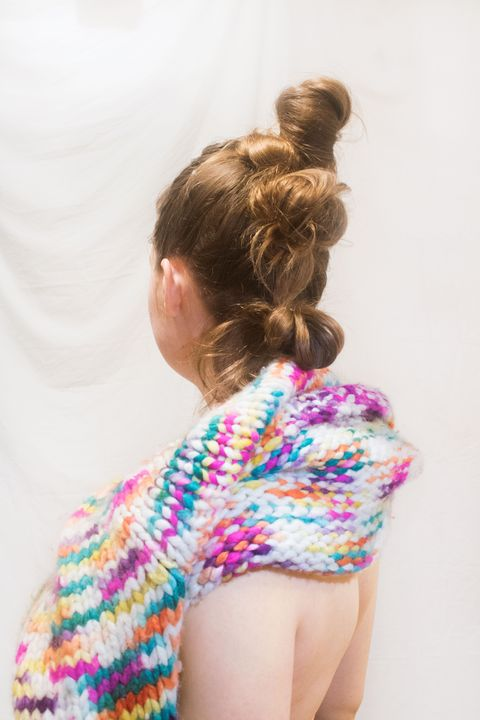 woman with knit sweater
