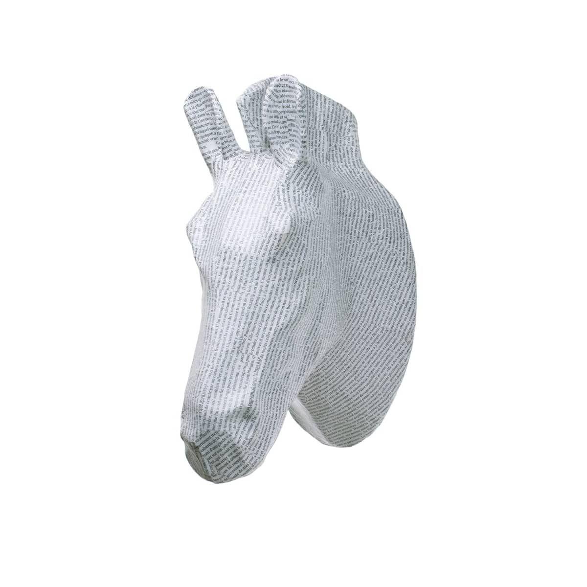 Papier Mache White Zebra Head