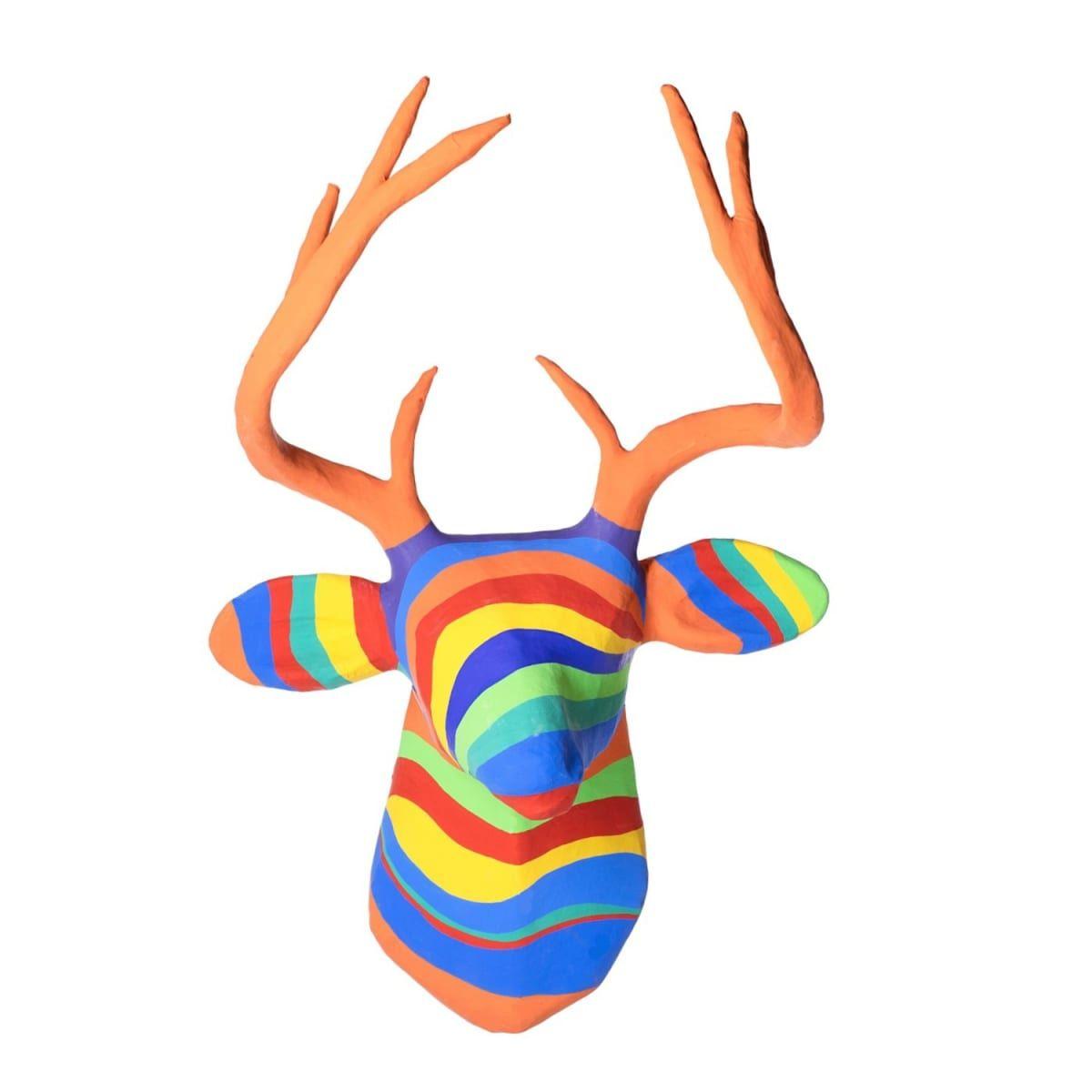 Paper Mache Rainbow Deer