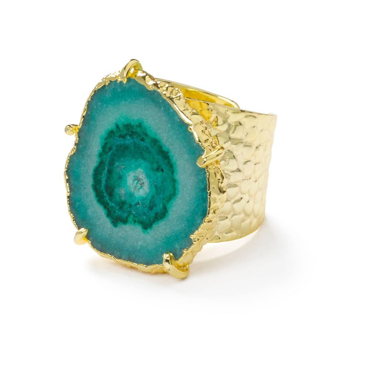 Gemstone 'Solar Power' Adjustable Statement Ring