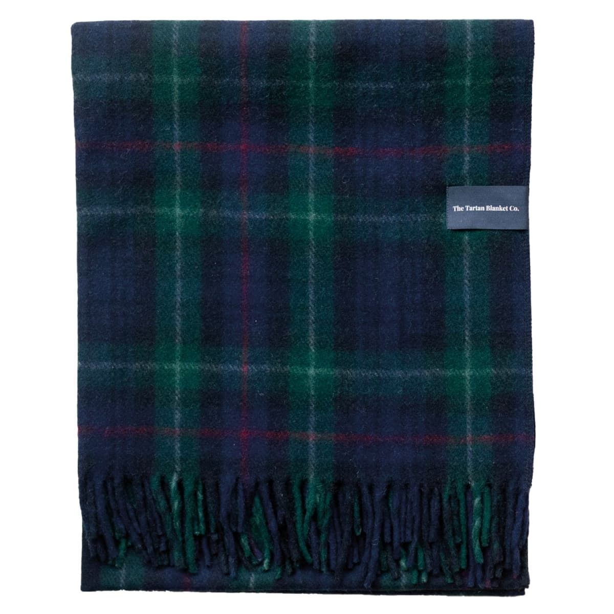Recycled Wool Blanket In Mackenzie Tartan