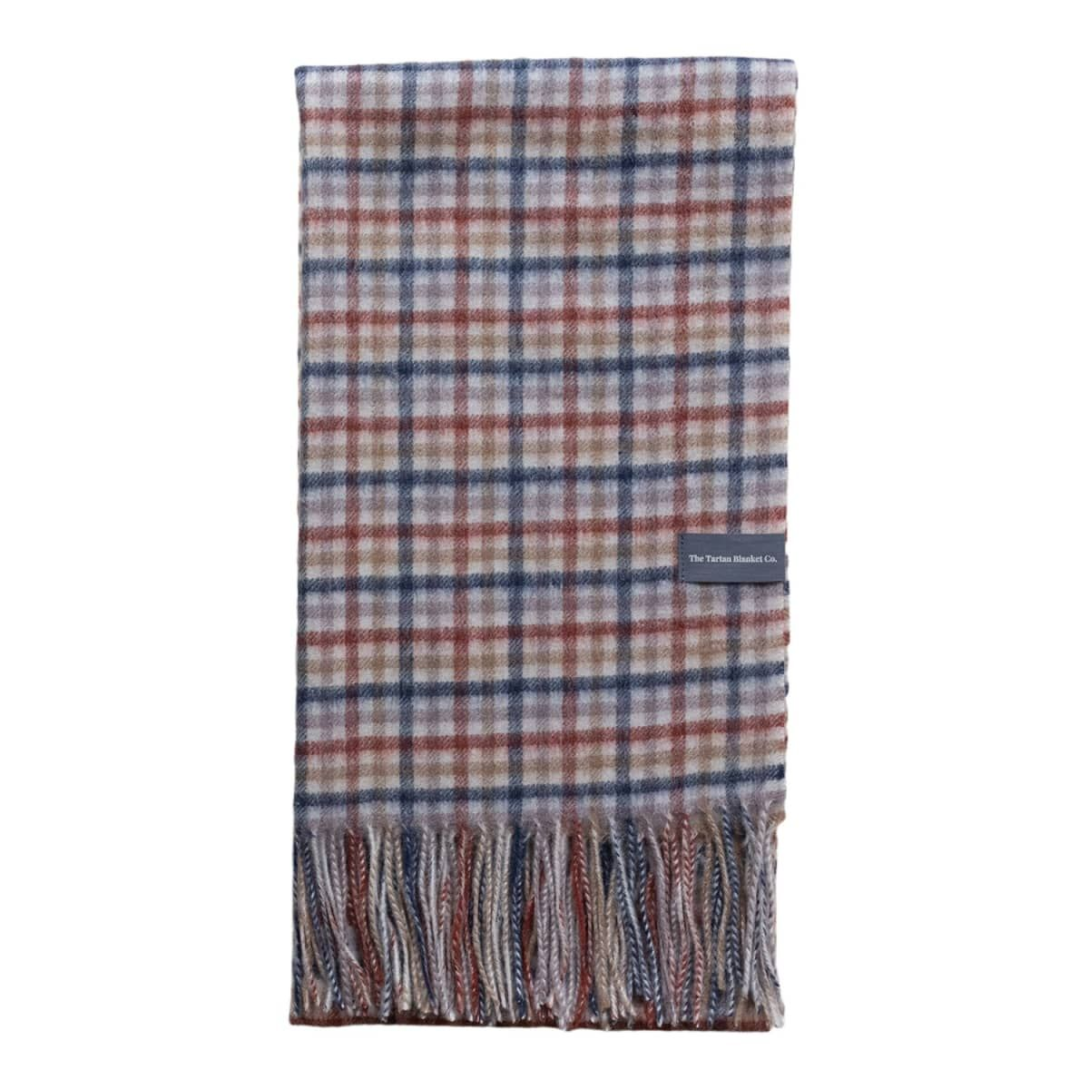 Lambswool Oversized Scarf In Rust Gingham