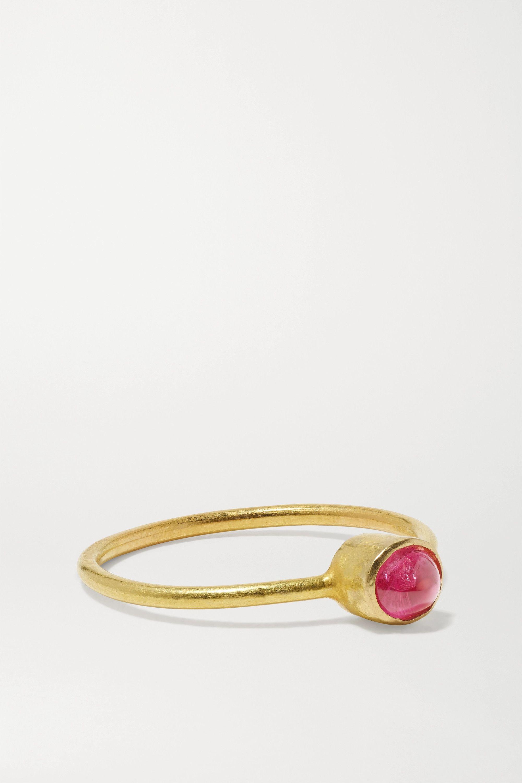 18-karat gold spinel ring