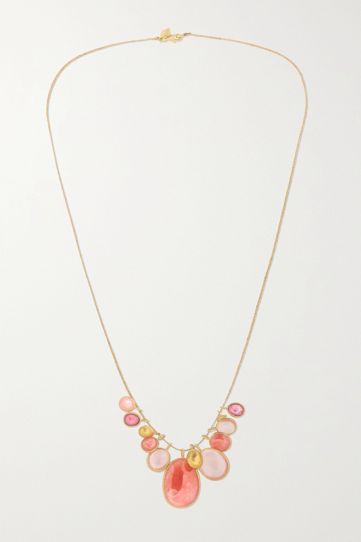 18-karat gold multi-stone necklace